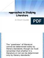 Approaches in Studying Literature