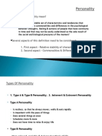 Personality and different theories about personality