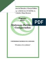 Programa Sistemas Políticos Comparados