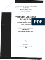 """Paracelsus - """"Volumen Medicinae Paramirum"""""""