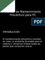 Manual de Mantenimiento Preventivo Para PC