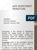 Aggregate Investment Expenditure (2)