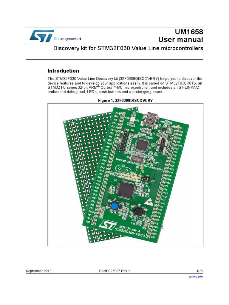 UM1658 User manual: Discovery kit for STM32F030 Value Line