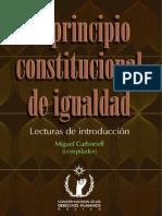 El Principio Constitucional de Igualdad - Carbonell, Miguel-FreeLibros