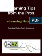 Elearning Tips From the Pros