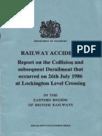 Railway Accident Lockington 1986