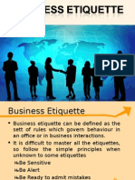 Business Etiquittes New