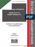 TAE Model Form of Expert Witness CV
