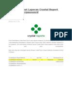 Cara Membuat Laporan Crystal Report Database Berpassword
