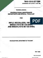 106MM Rifle M40A2 & M40 A4 TM9-1005-221-20P