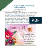 Shri Shirdi Sai Speaks for 24th Jan
