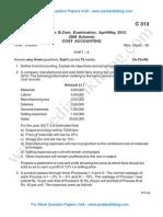 Cost Accounting May 2012