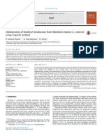 Optimization of Biodiesel Production From Manilkara Zapota (L.) Seed Oil