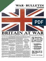 Working the War Broadsheet
