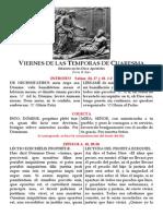 Viernes de Temporas (I Semana de Cuaresma). Folleto Pdf bilingüe