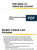 single linked list circular