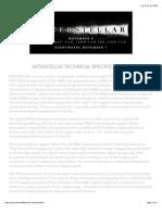 Interstellar Presentation Tech Specs
