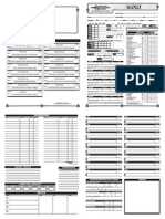 Scout Character sheet
