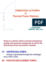 Optimisation of Pumps in Thermal Power Stations