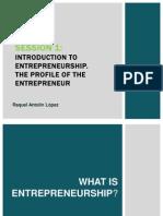 Intorduction to Entrepreneurship