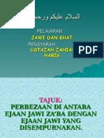 Jawi-perbezaan Jawi Za'Ba