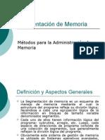 Segmentación de Memoria
