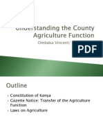 Understanding the County Agriculture Function