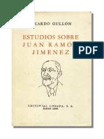 Gullon Ricardo - Estudios Sobre Juan Ramon Jimenez