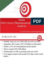 Indian APIs (Active Pharmaceuticals Ingredients) Analysis