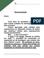 Apostila 1 CEESVO Portugues EF