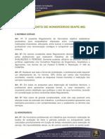 Perícias Honorários IBAPE MG 2014