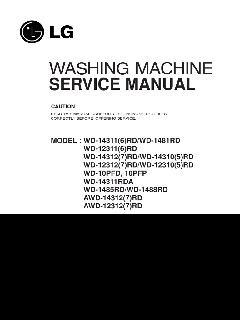 lg washing machine service manual washing machine. Black Bedroom Furniture Sets. Home Design Ideas