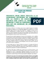 NOTA DE PRENSA DECRETO ANDALUCIA ANIMALES PELIGROSOS