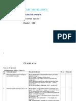 Matematica I VIII planificare inv spec