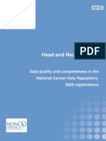 Data Qualit and Completeness in the National Cancer Data Rep