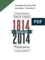2015 Budget (City of Troy, Ohio)