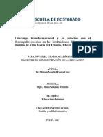 Liderazgo Tranasformacional-Desempeño Docente- 20-02-2015