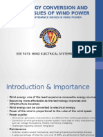 Wind Energy Conversion and Quality Issues of Wind Power With a View of Maintenance Issues in Wind Power Plants