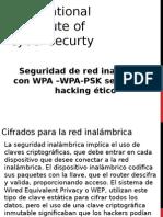 Seguridad de Red Inalambrica Con WPA –WPA-PSK Segun Curso Hacking Etico