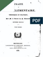 LJ Thenard - Traite de Chimie Élémentaire T1