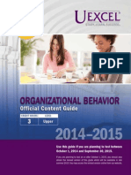Exam Content Guide Organizational Behavior