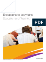 Exceptions to copyright