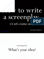 how to write a screenplay