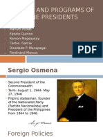 Foreign Policy of Philippine Presidents