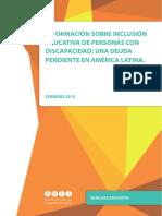 Información sobre inclusión educativa de personas con discapacidad