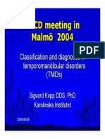 Diagnostic of TMD Disorders
