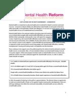 Mental Health Reform Mental Health Manifesto 2015