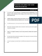Class VIII Reso SAT Sample Paper