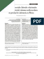 Factores Psicosociales Laborales Relacionados Con La Tension Arterial y Sintomas Cardiovasculares en Personal de Enfermeria en Mexico