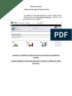 Manual Do Aluno - Pedido Fotocópia de Exame Escrito